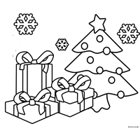 free colouring in sheet christmas gift