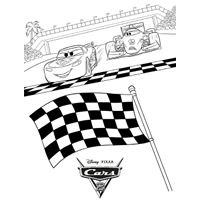 free colouring in disney cars2 picture