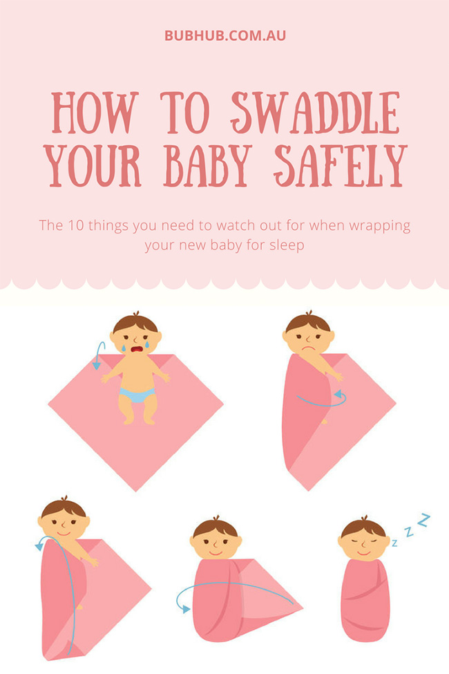 How to swaddle a baby safely for sleep