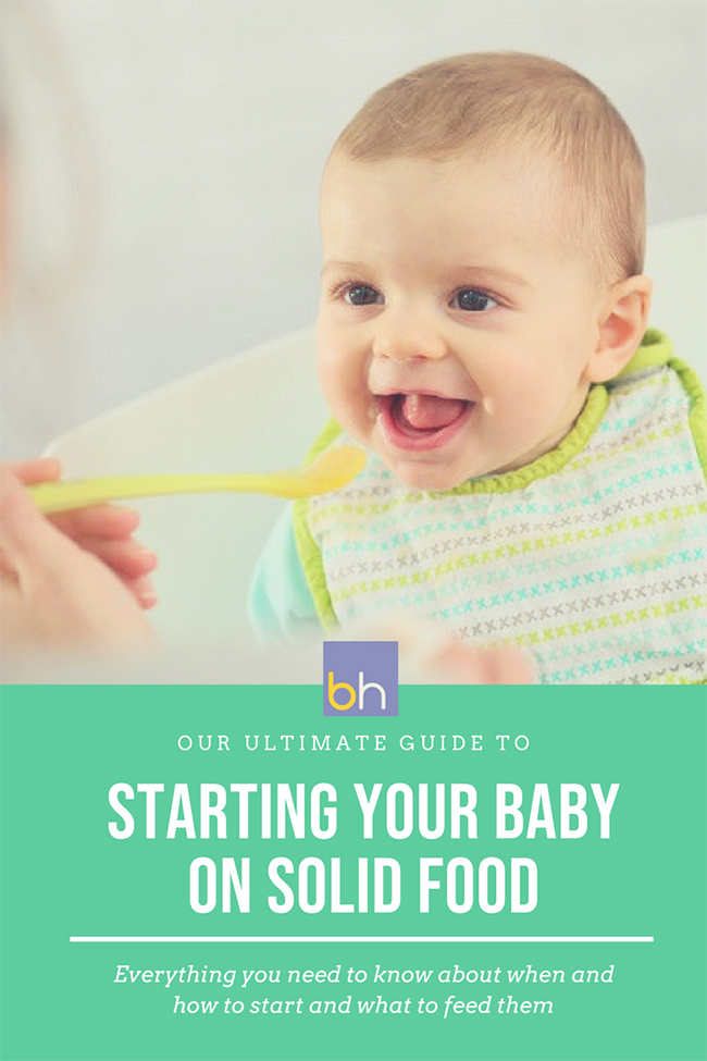 The ultimate guide to starting your baby on solid food
